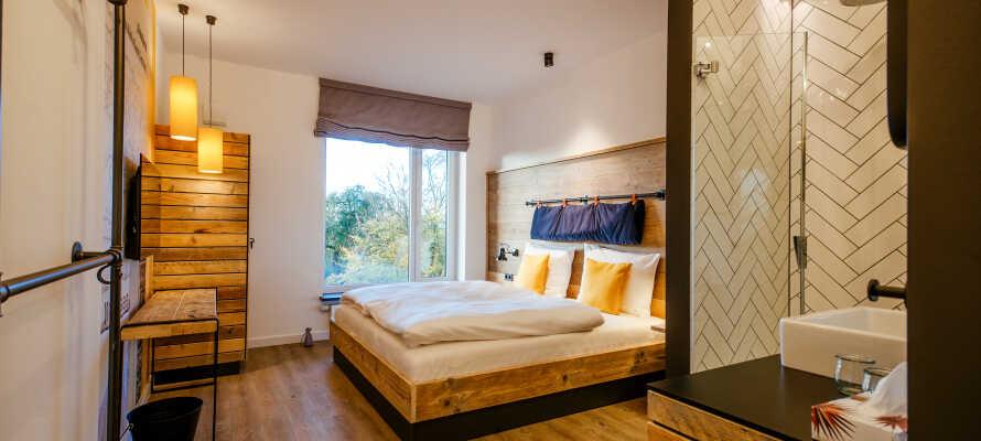 Værelserne er indrettet i en nordisk stil, og giver jer maksimal komfort under opholdet.