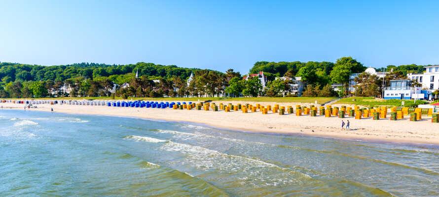 Dette nye luksushotellet i alpestil ligger rett ved stranden i Binz.