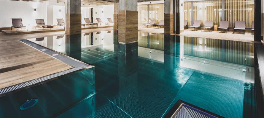 Hotellets wellnessområde byder på mange muligheder for afslapning under opholdet.