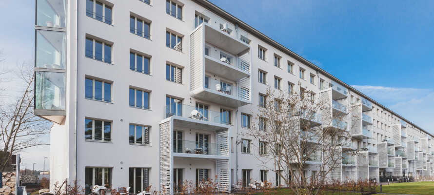 Det här unika lägenhetshotellet ligger i den renoverade delen av den historiska byggnaden