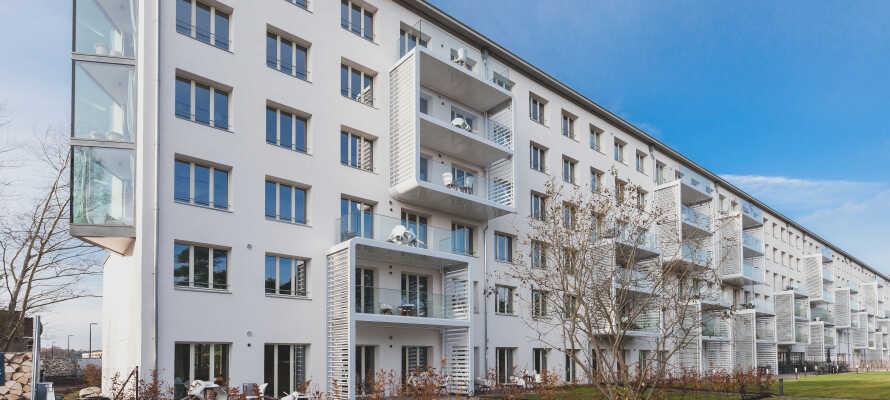 Det unike leilighetskomplekset ligger i den renoverte delen av den historiske