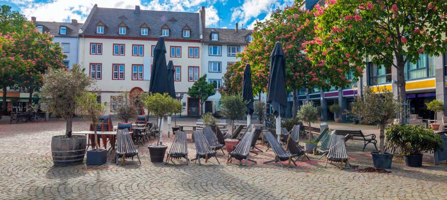 Koblenz byr på mange herlige severdigheter og hyggelige steder, som bare venter på å bli utforsket.