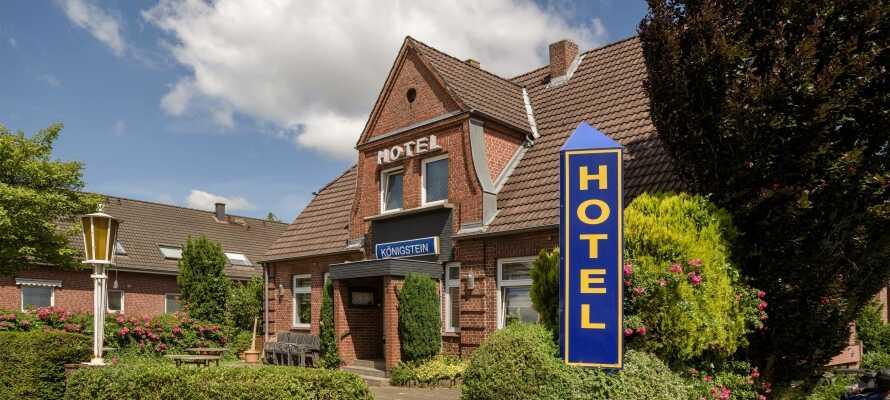 Ta en miniferie eller et helgeopphold på Hotel Königstein Kiel, som tilbyr en rolig base nær sentrum av Kiel.