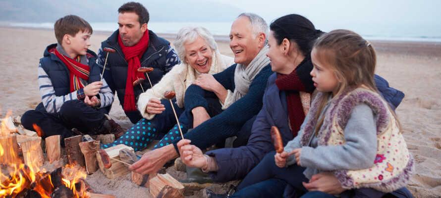 Hanstholm Camping håller öppet året runt, även under jul och nyår.