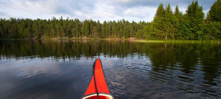 Hotellet ligger endast 50 meter från sjön Immeln där ni kan paddla kanot och bada