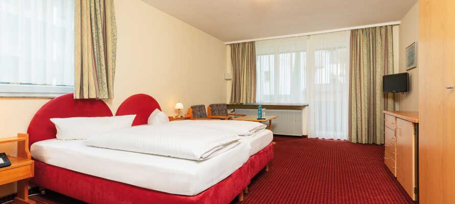 Hotellets værelser tilbyder komfortable og hyggelige rammer under opholdet i Bad Wörishofen.