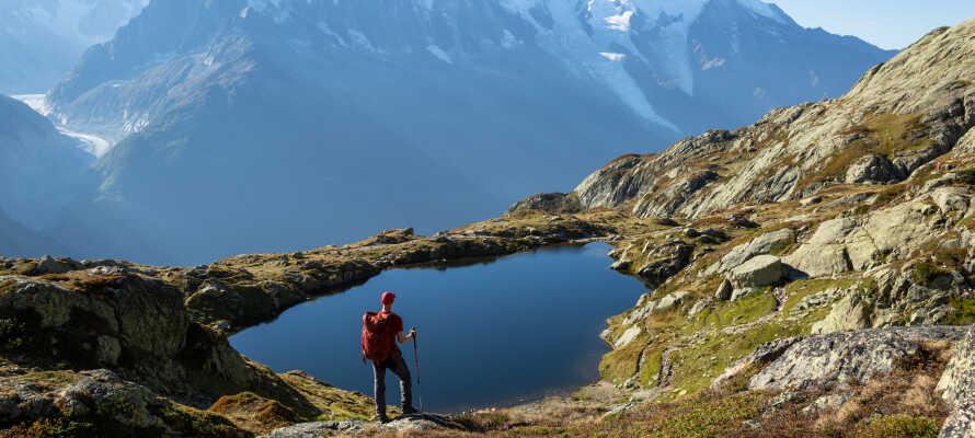 Fra hotellet har I kort afstand til Mont Blanc, og nogle af verdens bedste vandre- og skiområder.