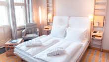 Et eksempel på et av hotellets dobbeltrom.