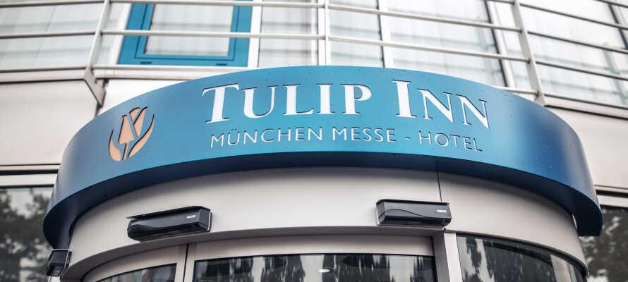 Opplev alle de fantastiske mulighetene i München med et billig hotellopphold på moderne Tulip Inn München Messe!