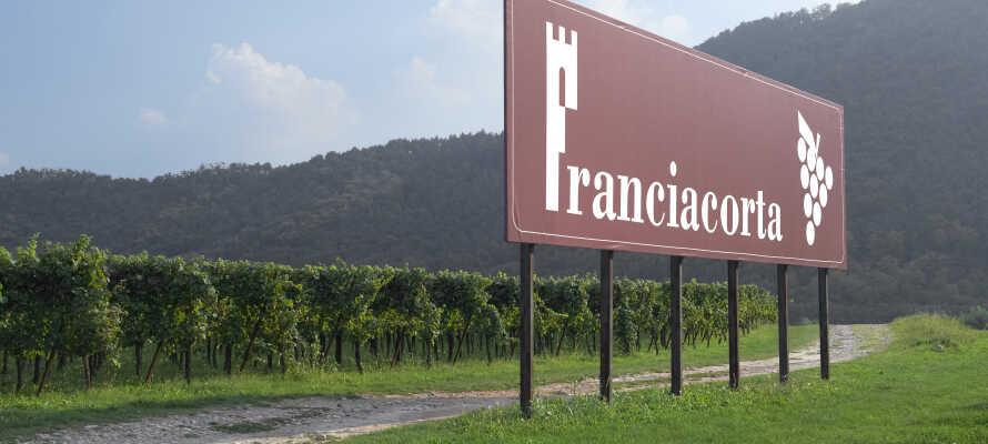 Franciacorta er et lombardisk vinområde, og opholdet inkluderer en guidet tur og vinsmagning i en vinkælder.