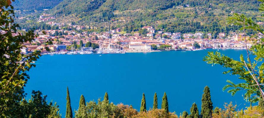 Hotel Belvedere har en skøn beliggenhed med en herlig udsigt over Gardasøen.