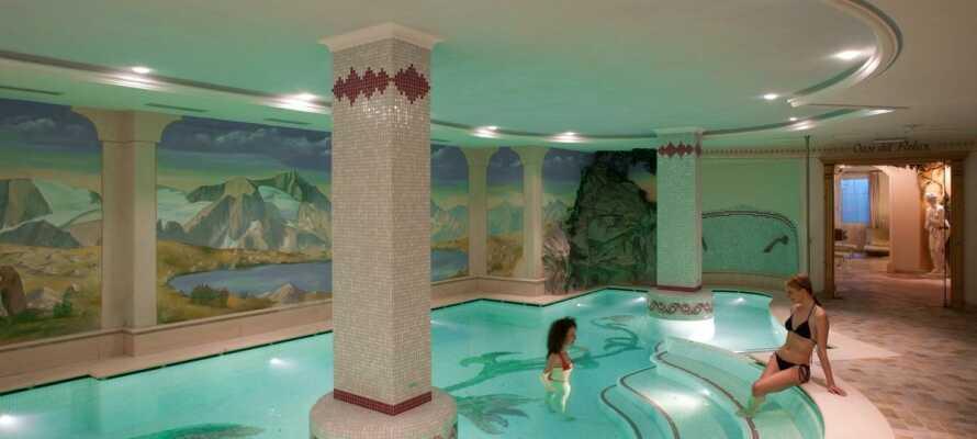 Under jeres ferie på Parco dello Stelvio har I fri adgang til det 300 m² store wellnessområde.
