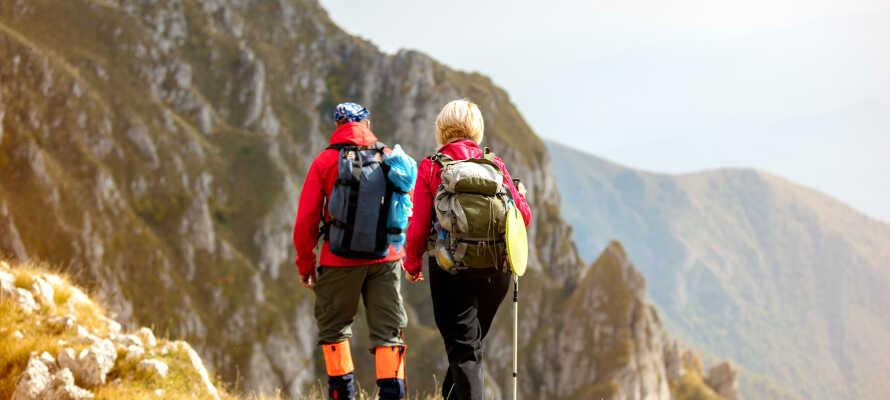 Det er muligt at booke guidede vandreture direkte på hotellet.