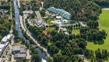 Ronneby Brunn Hotell ligger i et grøntområde og byr på wellness med et omfattende spa-program.