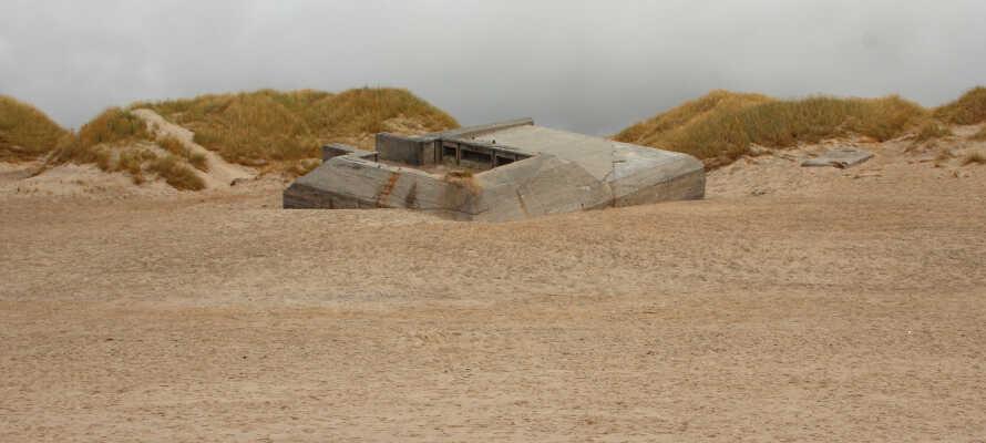 Er I historisk interesserede, vil Houvig Fæstningen være et oplagt valg, hvor I stadig kan se bunkerne fra Anden Verdenskrig