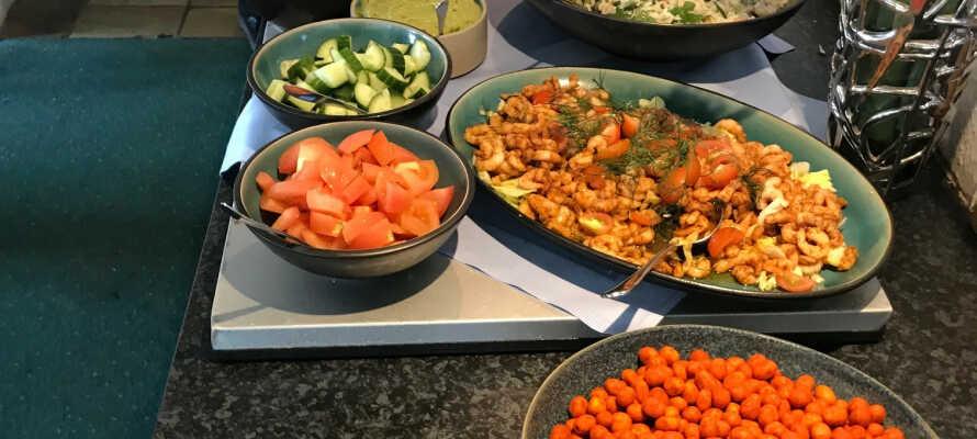 Temabuffetten er baseret på enten en italiensk eller mexicansk inspireret menu.