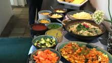 Temabuffetten er baseret på enten en italiensk eller mexicansk inspireret menu