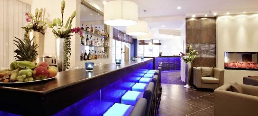 I hotellets hyggelige bar kan I nyde en øl eller en dejlig forfriskende drink.