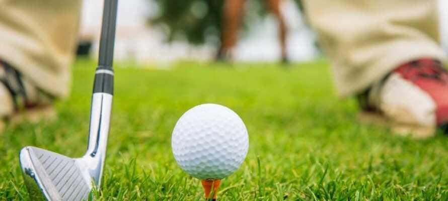 Om du vill gå ut i naturen och spela golf, finns det flera golfbanor inom kort avstånd från hotellet.