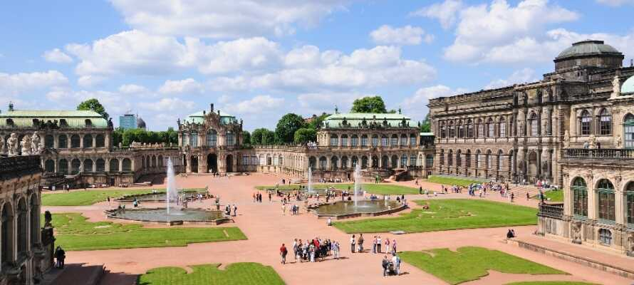 Zwinger är en välkänd barockbyggnad, full av vackra målningar som ni bland annat kan njuta av i Zwingermuséet.