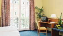 Hotellrummen fungerar som en bra bas under er vistelse.
