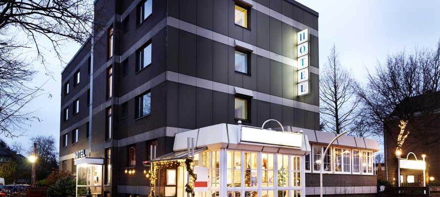 Familjedrivet budgethotell  som passar både för en minisemester i Hannover eller för ett kortare stopp på vägen genom Tyskland