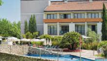 Det nydelige Parc Hotel ligger ved den sydlige del af Gardasøen