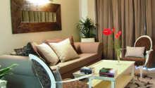 Suiterne er ca. 45 m² og tilbyder luksuriøse rammer for Jeres ophold