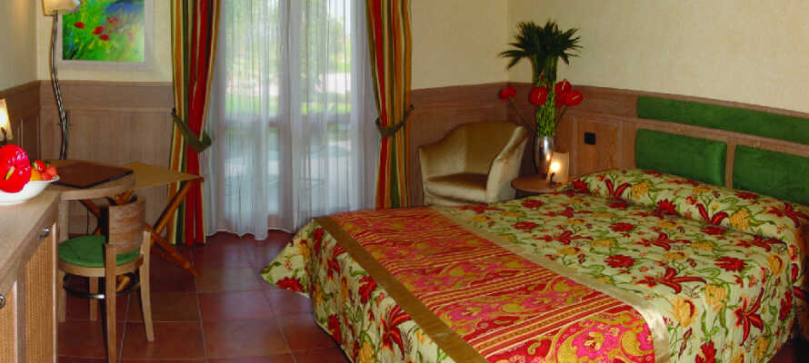De trevliga standardrummen utgör en bekväm bas för er semester i Italien.