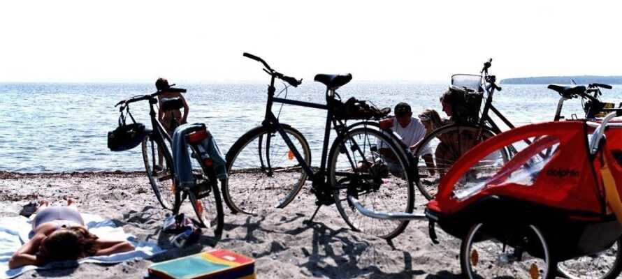Der er rig mulighed for at nyde de danske strande i det sydsjællandske.